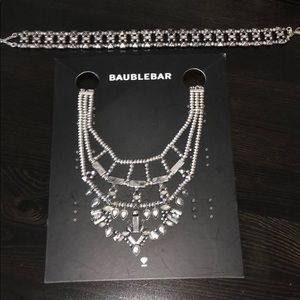 Baublebar Silver Choker and Statement Necklace Set
